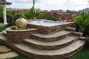 Interlocking Hot Tub Decks & Retaining walls - L.Martin Garden