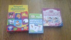 Kids dominoes,memory and word games