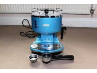 DELONGHI ICONA COFFEE MACHINE IN BLUE