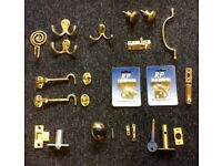 Brass Hooks, Handles and and Bolts etc.