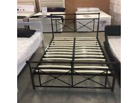 """4'6"""" Double metal bed frame (brand new still in box)"""