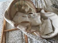 Mamas &papas Moses basket with stand plus extras