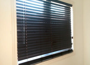 "REAL WOOD BLINDS 2 sets (pair) for 57"" WIDE windows 2"" Slats"