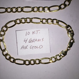 10 KT. GOLD Necklace & Bracelet ( Men's )  Like New...Cash Only