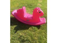 Little Tykes outdoor pink rocking horse