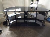 TV Stand - Black Glass RRP £75 Only Want £30!