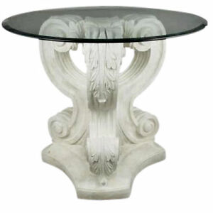 New Acanthus leaf  table with 48'' top glass