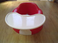 Bumbo Baby Feeding Seat Maroon with Seat Belts Roundhay Park Leeds 8 - Can Deliver