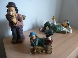 Set of 3 decorative clowns