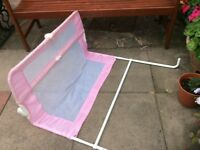 Lindam pink bed guardSTILL FOR SALE