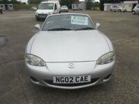 2002 Mazda MX-5 1.6i Arizona CONVERTIBLE, FULL MOT, LOW MILEAGE