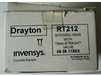drayton RT212 integral head 15mm straight valve