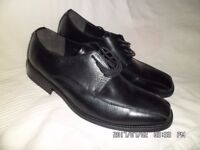 brand new mens black leather suit shoes size 42 = 8