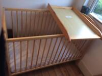 Cot with changing table