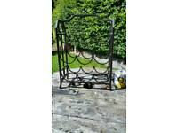 Metal free standing wine rack