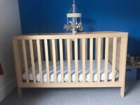 Mothercare Cot / Toddler Bed with Mamas and Papas musical mobile