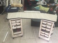large professional manicure table with storage