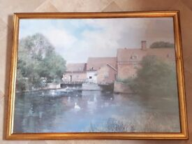 Clive madgwick Summer at Flatford Mill framed print