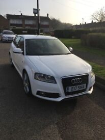 White Audi A3 2011 plate for sale really nice car