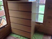 Ikea chest of 6 draws ( Malm) Oak veneer