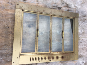 Antique fireplace door