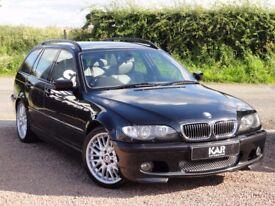 BMW E46 330d M Sport Touring, Automatic, FSH, 104k Miles, 2002/52 Reg, Black, MOT: Jan 2018