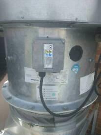 Kitchen commercial woods fan