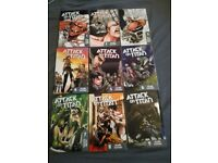 Attack on titan vol 1-9 £50