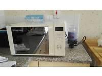 Beige russell hobbs microwave