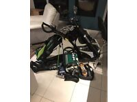Golf Set - Ping, TaylorMade, Titleist. Driver, Woods, Irons, Wedges, Putter, Motocaddy bag trolley