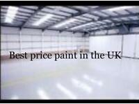Premium brand factory emulsion. hi opacity magnolia/. cream 5x20 = 100 litres was £ 150 Now £70