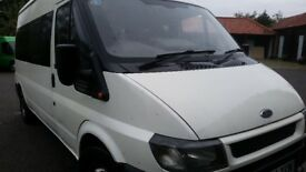 FORD TRANSIT 15 SEAT MINI BUS RECENT MOT ELECTRIC RFONT WINDOWS