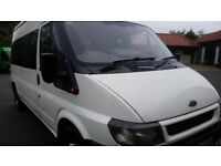 FORD TRANSIT 15 SEAT MINI BUS RECENT MOT ELECTRIC RFONT WINDOWS
