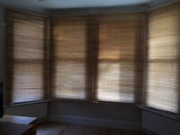 Large wooden Venetian blinds