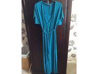 Lovely teal maternity/ nursing dress, size 12