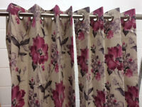 Ex-Show Home - two pairs of eyelet curtains and cushions