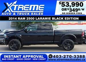 2014 Ram 2500 Laramie Black Edition *INSTANT APPROVAL* $349/BW!