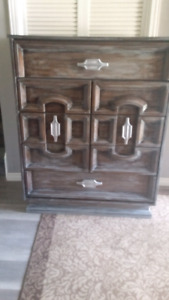 5 drawer white washed dresser...priced to sell fast