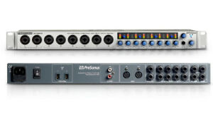 Presonus firestudio project recording interface.