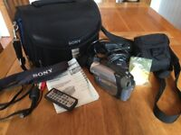 Sony DCR-DVD202E Handycam Camcorder and accessories