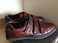 Men leather shoes size 8 brown new - £ 22