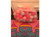 Kids pink and blue plastic balls