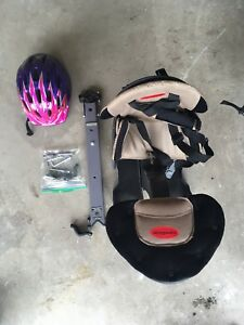 Weeride child (front) bike seat free girls helmet
