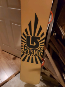 Brand new Burton snowboard with bindings