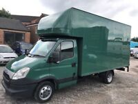 2012 iveco daily 3.0 hpi 6 speed 35c15 lwb 14 ft luton box van with tail lift no vat 1 owner
