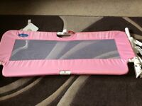 PINK BED GUARD BY BABY START