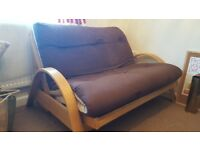 Wooden pull out sofa bed