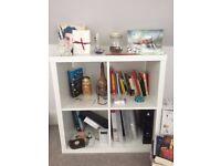 White Ikea Bookshelf - Cube Storage