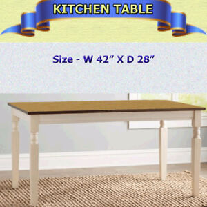 GOOD QUALITY KITCHEN TABLE - BIRCH WITH WHITE TRIM