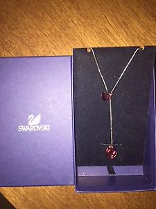 Authentic Swarovski Purple Crystal Pendant Necklace NEGOTIABLE